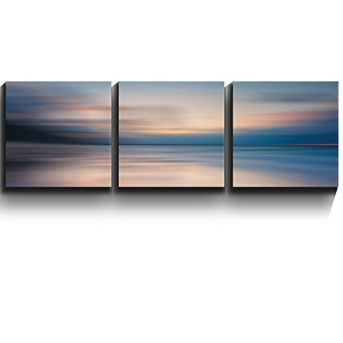 3 Square Panels Contemporary Art Sunrise golden hour lake setting abstract Three Gallery ped Printed Piece x3 Panels
