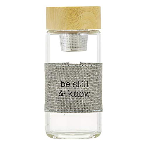 US Gifts Water Bottle with Tea Infuser - Be Still and Know (Pack of 2) by US Gifts