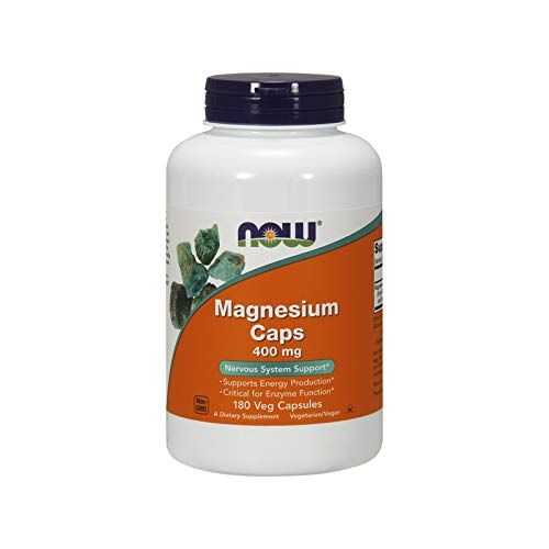 NOW Magnesium 400mg, 180 Veg Capsules ()