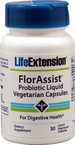 3 bott.Life Extension FlorAssist - 30 Probiotic Liquid Vegi Caps Digestive Health by Life Extension