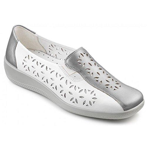 Hotter Rimini, Mocasines para Mujer blanco - White\\Silver