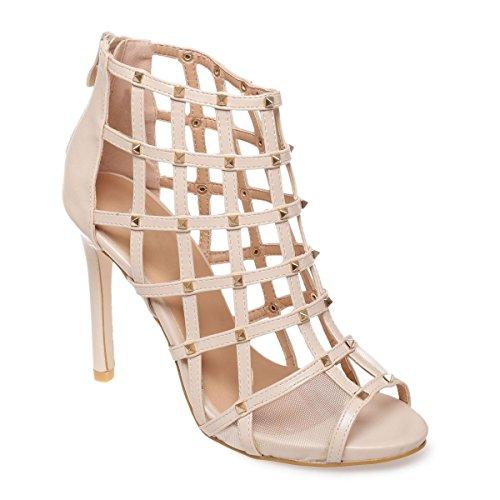 La Modeuse - Sandalias de vestir para mujer Beige