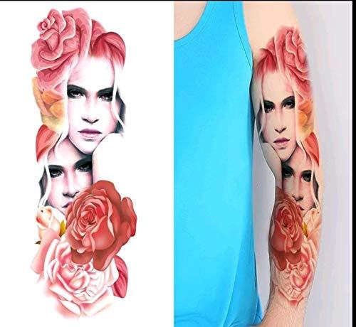 Gypsy Lady Temporary Tattoo Body Art Metallic Flash Tattoo Body Stickers 3D Body Glam Extra Large 6 x 17 Water Transfer ()