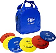 Disc Golf Set - Include Putter, Midrange, Drivers | Flying Disc Golf Starter Set with Carry Bag (6 Pack)