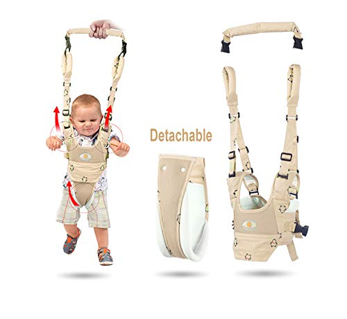 Baby Walker Toddler Walking Assistant Protective Belt,VIORKI Multifunction Breathable to Prevent Falling Learning Assistant,Help The Baby Safely Stand up and Walking(Khaki)