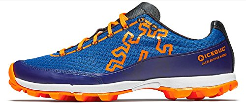 Icebug Men's Acceleritas6 Running Shoe (12 D(M) US, Deep Blue/Dark Orange)