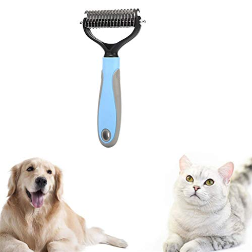 Pet Grooming Tool for Dogs Cats Pets Dematting Tool Double Sided Stainless Steel Deshedding Brushes Easy Mats & Tangles Removing for Dogs, Cats, Rabbits, Long Haired Breed Pets