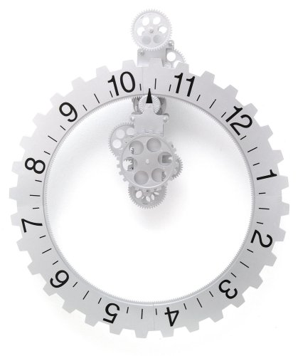 Kikkerland Big Wheel Revolving Wall Clock 1706