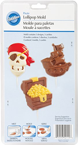 Wilton 2115-2111 Pirate Lollipop Mold, Large, 3 Designs