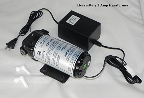 Aquatec 8800 series 8852 water pressure boost pump (+ heavy duty 3 Amp Transformer) for aeroponics 100 to 200 GPD RO system by Aquatec