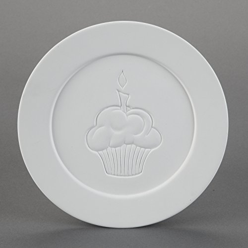 Wholesale Ceramic (Duncan 29051 Small 8.5 Inch Cupcake Dinner Plate , Case of 6 Pieces, Unfinished Ceramic Bisque, With How To Paint Your Own Pottery Booklet)