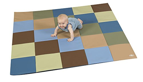 Patchwork Crawly Mat Color: Brown/Beige/Sage by Children's Factory