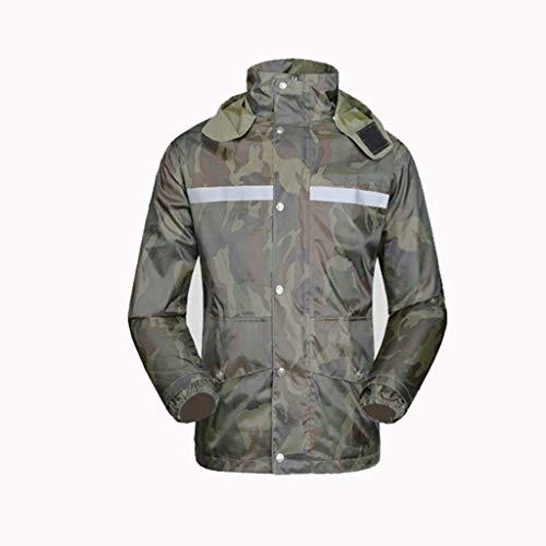 Adulto Motor Camouflage Reflective Rainsuit Outdoor Riding Armygreen Electric Split Motorcycle Raincoat Targogo 5nFXgxRq