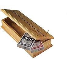 Endgamz Premium Wood Cribbage Board with Storage, Cards and Metal Pegs