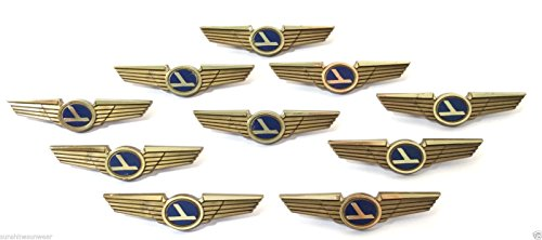 Kids Aviator Pilot Wings Plastic Pins Pinbacks Badges Lot of