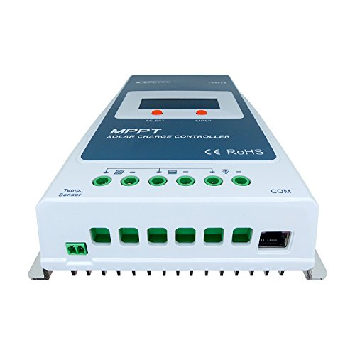 EPEVER MPPT Solar Charge Controller 20A 12V/24V Auto Work Tracer2210A Solar Panel Regulator with LCD Display Max PV 100V Input Power 260W/520W (20A, Tracer2210A) by EPsolar (Image #1)