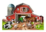 Busy Barn Shaped Floor Puzzle: 32 Piece