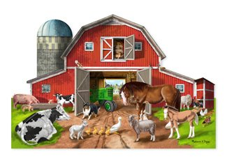 (Busy Barn Shaped Floor Puzzle: 32 Piece)