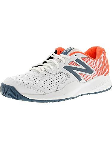 New Balance Women's 696v3 Hard Court Tennis Shoe, White, 10.5 B US (Tennis Balance New Apparel)