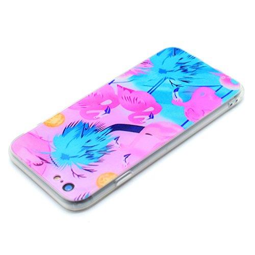 "Hülle Cover iPhone 6 / 6S, IJIA Ultra Dünnen Blau Rosa Kran Weich TPU und Harte PC (2 in 1) Silikon Hülle Handyhüllen Schutzhülle Handyhülle Schale Case Tasche für Apple iPhone 6 / 6S 4.7"" + 24K Gold"