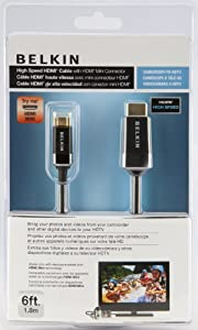 Belkin High Speed HDMI to Mini HDMI Cable - Camera to TV - 1.5m by Belkin