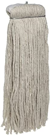 Zephyr 4-Ply Cotton Economy Cut End Screwflat Mop Head (Pack of 12)