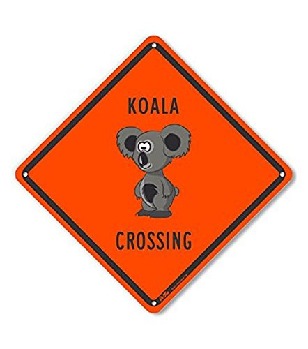 10 x 10 PetKa Signs and Graphics PKAC-0370-NA/_10x10Koala Crossing Aluminum Sign