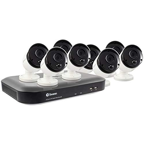 Swann 8 Camera 8 Channel 4K Ultra HD DVR Security System | 2TB HDD, Heat & Motion Sensing + Color Night Vision