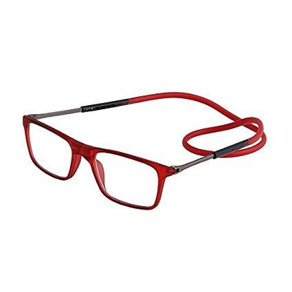 f7ea8d1cdc Inovey Magnética Cuello Colgante Unisex Gafas De Lectura Ajustables Vidrio  Presbicia Plegable