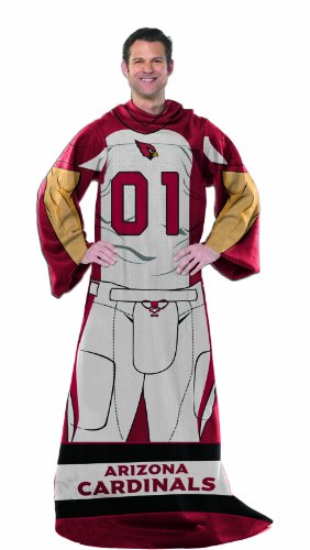 - Officially Licensed NCAA Arizona Cardinals Full Body Player Adult Comfy Throw Blanket, 48