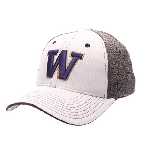 - Zephyr NCAA Washington Huskies Adult Men Equinox Hat, X-Large, White/Heather Gray