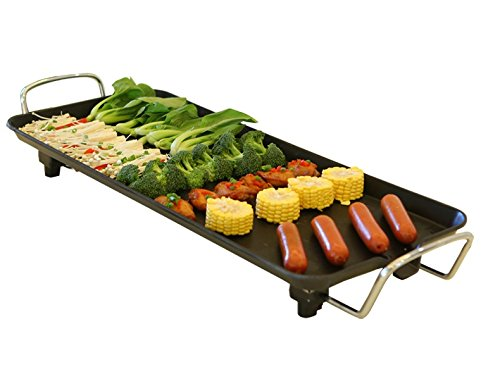 Environmental Electric Grill BBQ Grill and Teppanyaki Grill with Gift BBQ Tools Set