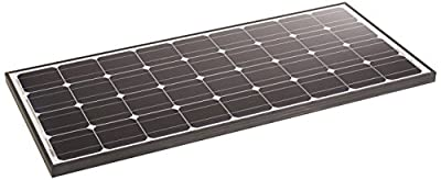 ALEKO Solar Panel Monocrystalline 125W for Any DC 12V Application (Gate Opener, Portable Charging System, Etc.)