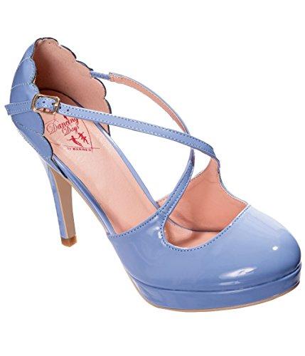 Banned Apparel Riverside Rae Vintage Retro 50s Shoes Light Blue