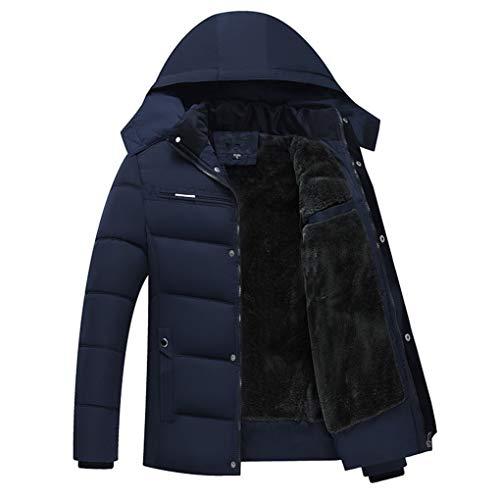 Taille Casual Coton Manteaux Occasionnels Hommes Xxxl D'hiver Capuchon Rembourré Bleu couleur En À Noir Slim Pour Épais Veste Duvet Lihua Ogwnxd8qO