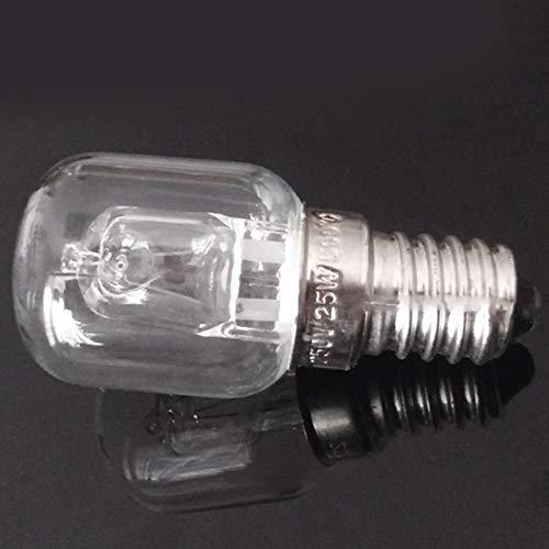Casinlog E14 Ampoule Haute Temp/érature 500 Degr/és 25W Halog/ène Bulle Ampoule de Four E14 250V 25W Ampoule /à Quartz