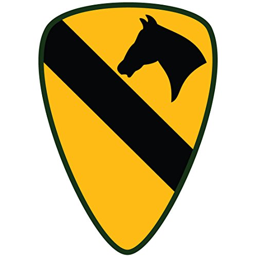 US Army - 1st Cavalry Division SSI Patch Decal - 3.5 Inch Tall Full Color Decal, Sticker - Patch Dui Military