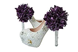 Pearl & Crystal High Heel Shoes