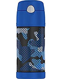 THERMOS BRAND FUNTAINER Vacuum Insulated Straw Bottle,...