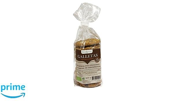Biospirit Galletas de Avena con Aceite de Coco Chocolate y Macadamia de Cultivo Ecológico - 4 Paquetes de 200 gr - Total: 800 gr: Amazon.es: Alimentación y ...