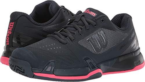 Wilson Womens Rush Pro 2.5 Tennis Shoes, Blueberry/Black/Paradise Pink (Size 7.5) (Wilson Womens Tennis Apparel)