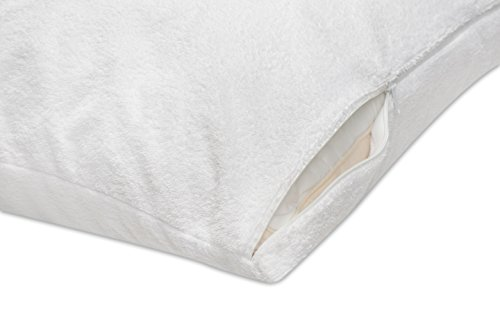 Everlasting comfort and ease 100 Waterproof Pillow Protector Hypoallergenic Pillow Covers Breathable Membrane entire life Replacement Guarantee Standard 2 Pack