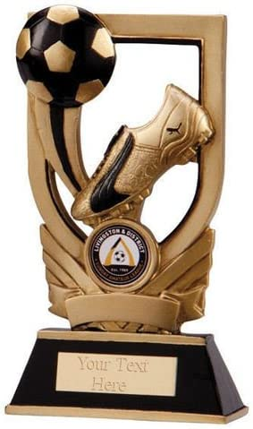 Oro Puma Botas de fútbol y pelota trofeo premio grabado: Amazon.es ...