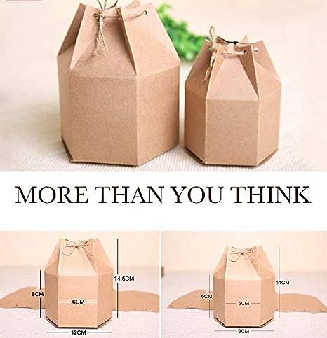 Amazon.com: Xiaogongju - Caja de cartón de papel Kraft para ...