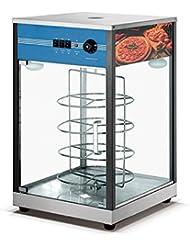 Seayade Countertop 4 Layer Pizza Warmer 17x17x34 Food Display Cabinet