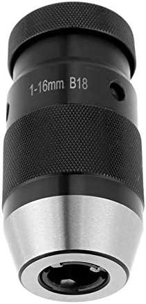 Chuck 1-16mm Clamping Range 45# Steel Self Tighten Keyless Lathe Drill Chuck with MT3-B18 Taper Arbor