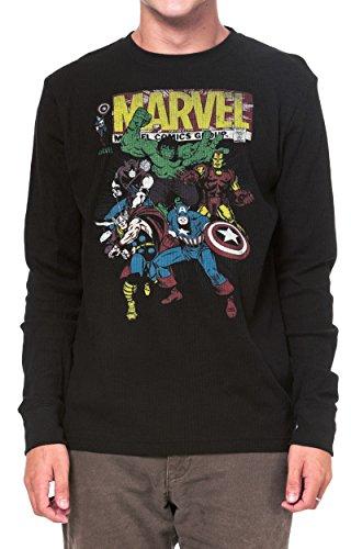 Marvel+Comics+Retro+Shirt Products : Marvel Mens Thermal Shirt The Avengers Retro Comics Print Long Sleeves