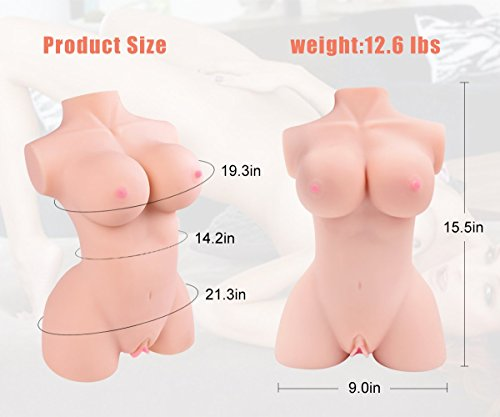 3D Realistic Female Torso Love Doles for Men Male Adult Toys for Man Relax Gifts with Soft Skin & Durable Skeleton by ASVFR (Image #5)