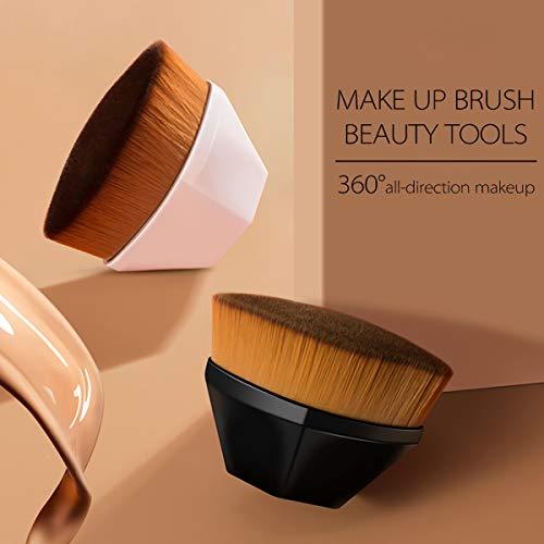 Huasida Foundation Brush Liquid Brush Make Up Brush Beauty Tools with Storage Case (Bright black)