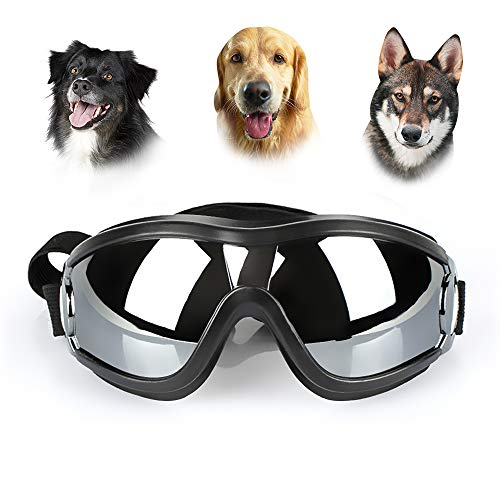 UNITRIP New Version Pet Dog UV Sunglasses Goggles Waterproof Windproof for Medium and Large Dogs from UNITRIP
